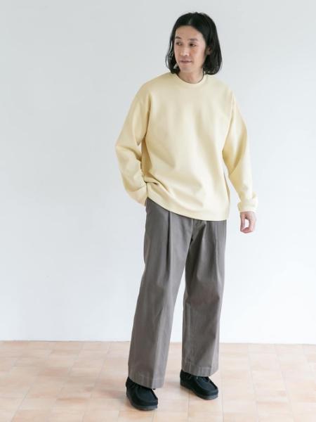 URBAN RESEARCH DOORSの【予約】FORK&SPOON ワンタックチノパンツを使ったコーディネートを紹介します。|Rakuten Fashion(楽天ファッション/旧楽天ブランドアベニュー)1089667