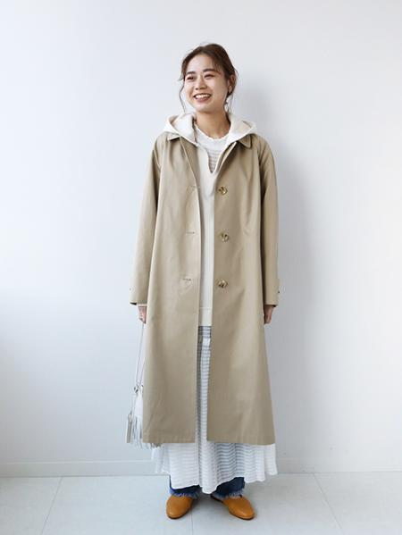 JOURNAL STANDARD relumeのスーピマコットンステンカラーコートを使ったコーディネートを紹介します。|Rakuten Fashion(楽天ファッション/旧楽天ブランドアベニュー)1089881