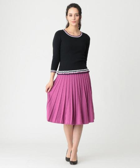 TO BE CHICのレーヨンナイロンプリーツスカートを使ったコーディネートを紹介します。|Rakuten Fashion(楽天ファッション/旧楽天ブランドアベニュー)1089920