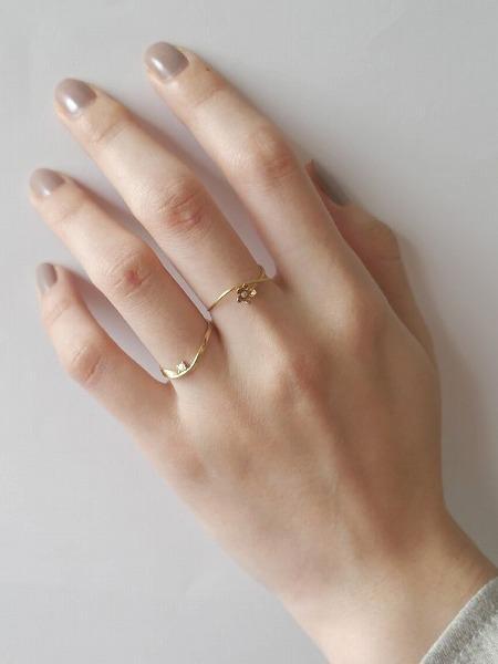 little emblemのK18YGダイヤモンドリングを使ったコーディネートを紹介します。|Rakuten Fashion(楽天ファッション/旧楽天ブランドアベニュー)1089979
