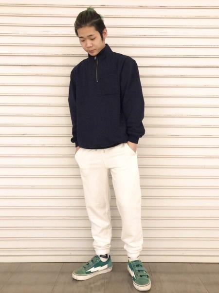 GAPのワークフォース カーボナイズドフリース スウェットシャツを使ったコーディネートを紹介します。|Rakuten Fashion(楽天ファッション/旧楽天ブランドアベニュー)1090494