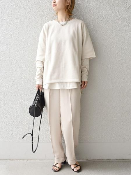 SHIPSの【手洗い可能】ヘビーサテンシャーリングパンツ◇を使ったコーディネートを紹介します。|Rakuten Fashion(楽天ファッション/旧楽天ブランドアベニュー)1090675