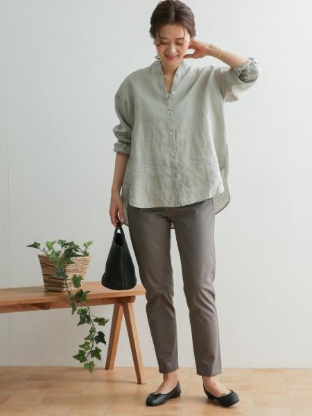 URBAN RESEARCH DOORSのリネンスタンドカラーワイドシャツを使ったコーディネートを紹介します。|Rakuten Fashion(楽天ファッション/旧楽天ブランドアベニュー)1090872