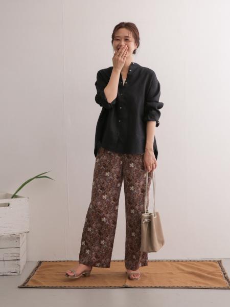 URBAN RESEARCH DOORSのリネンスタンドカラーワイドシャツを使ったコーディネートを紹介します。|Rakuten Fashion(楽天ファッション/旧楽天ブランドアベニュー)1090876