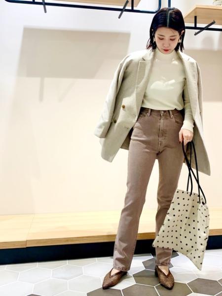 N. Natural Beauty Basic*の総針ボトルネックニットを使ったコーディネートを紹介します。|Rakuten Fashion(楽天ファッション/旧楽天ブランドアベニュー)1091182