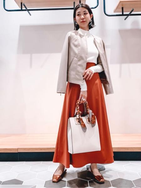 N. Natural Beauty Basic*のフェイクレザーブルゾンを使ったコーディネートを紹介します。|Rakuten Fashion(楽天ファッション/旧楽天ブランドアベニュー)1091097