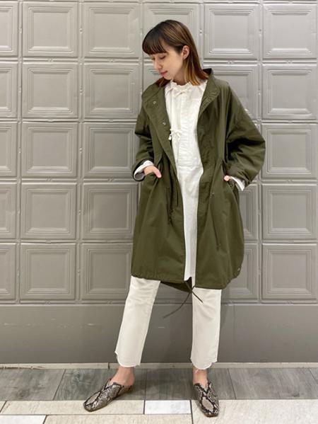JOURNAL STANDARDの【ARMY TWILL / アーミーツイル】FISH TAIL COAT:別注コート◆を使ったコーディネートを紹介します。|Rakuten Fashion(楽天ファッション/旧楽天ブランドアベニュー)1091398
