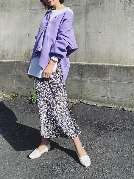 ViSのビッグシルエットVネックカーディガンを使ったコーディネートを紹介します。|Rakuten Fashion(楽天ファッション/旧楽天ブランドアベニュー)1091576