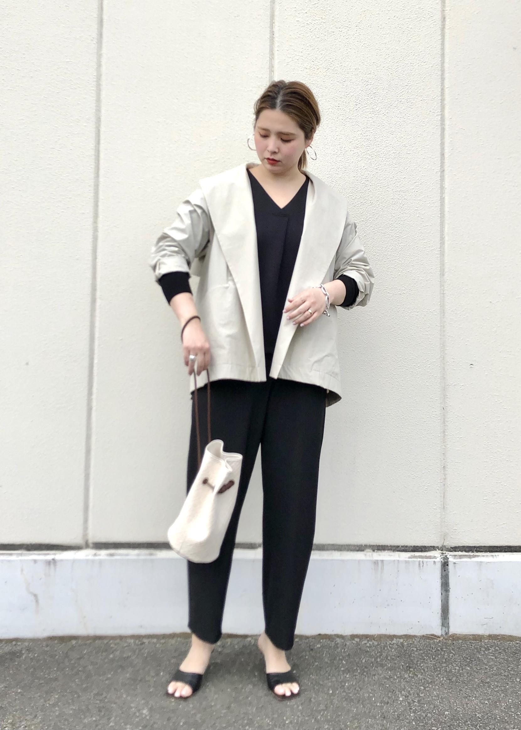 ROPE'の【洗える】ストレッチツイルコンビネゾンを使ったコーディネートを紹介します。|Rakuten Fashion(楽天ファッション/旧楽天ブランドアベニュー)1099185