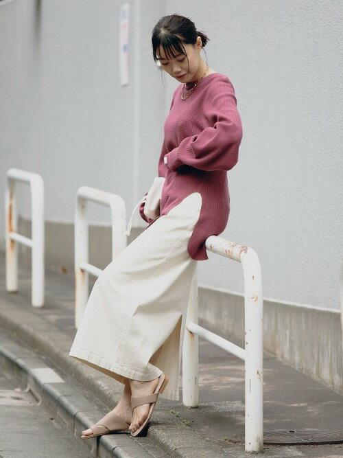UNITED ARROWS green label relaxingのSC コットン / PU スリット タイト スカートを使ったコーディネートを紹介します。|Rakuten Fashion(楽天ファッション/旧楽天ブランドアベニュー)1100460