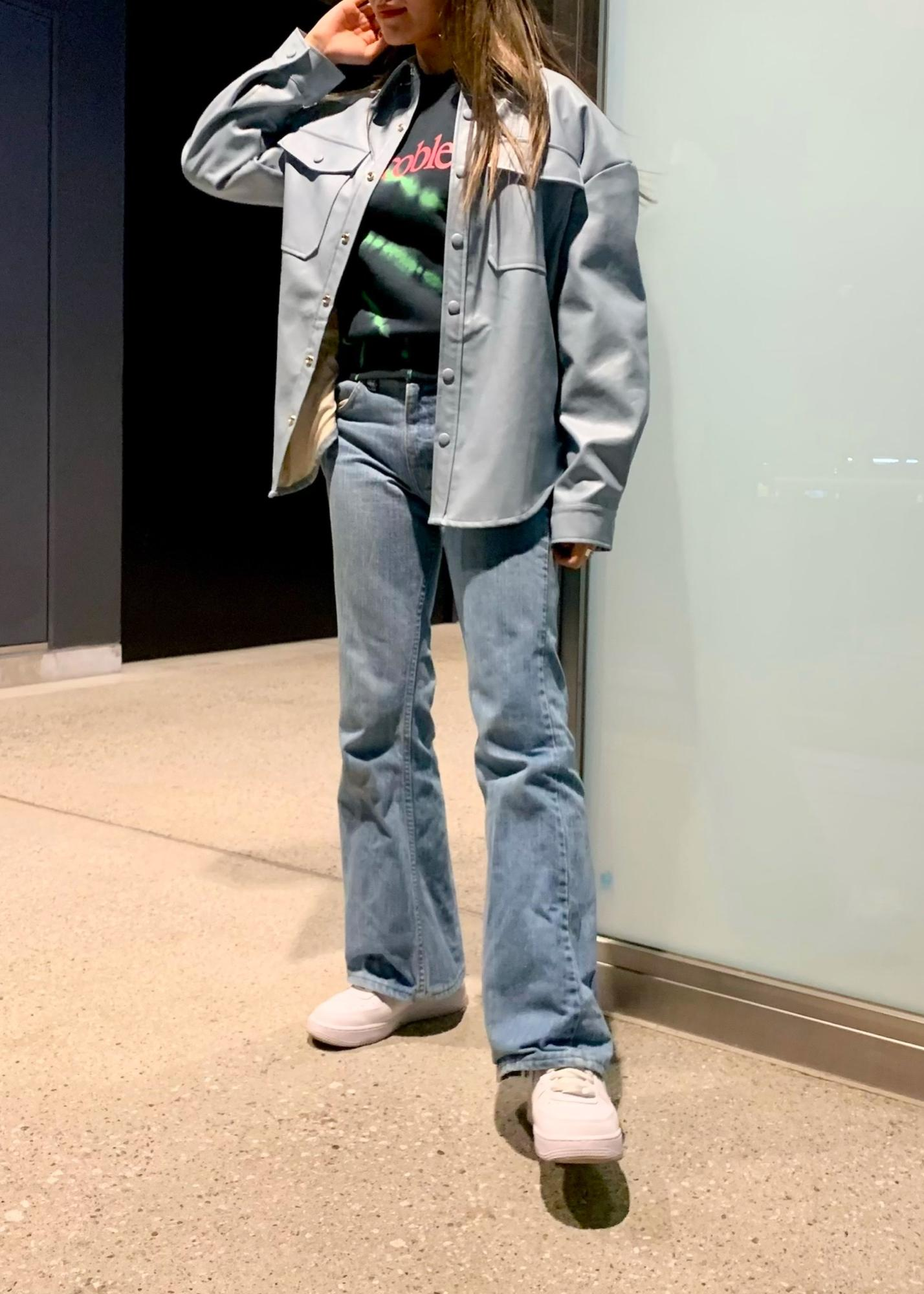 bonjour recordsの21SSエコレザー オーバーサイズシャツジャケットを使ったコーディネートを紹介します。|Rakuten Fashion(楽天ファッション/旧楽天ブランドアベニュー)1100715