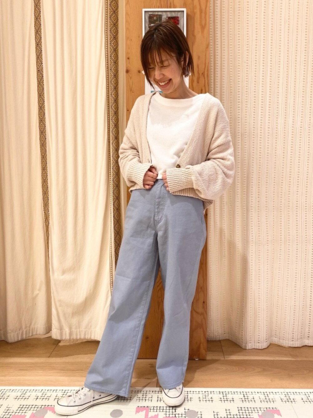 coenの【WEB限定カラー/サイズ】ニュアンスカラーワイドパンツ#を使ったコーディネートを紹介します。|Rakuten Fashion(楽天ファッション/旧楽天ブランドアベニュー)1101135