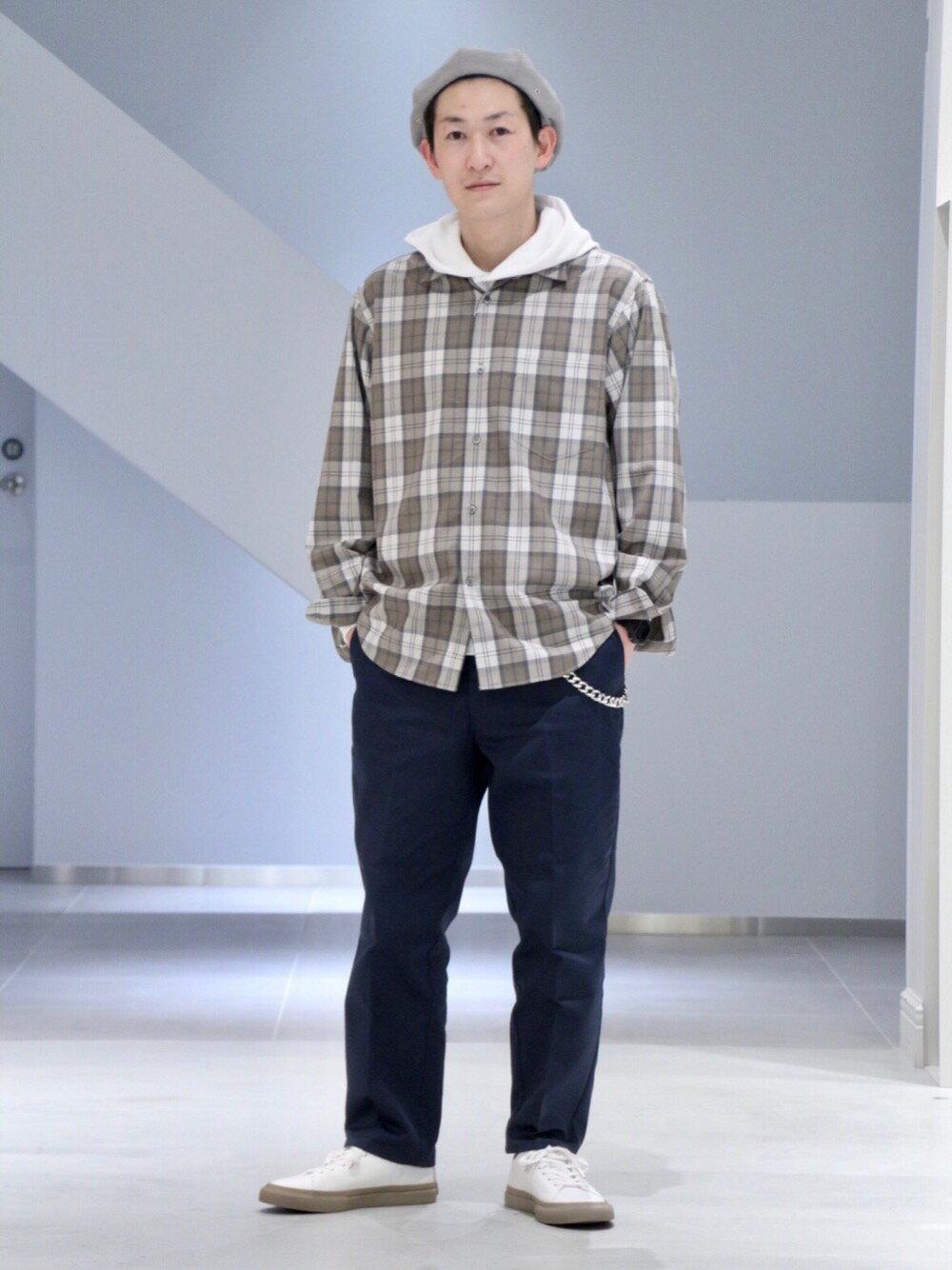 BEAUTY & YOUTH UNITED ARROWSのBY  スウェット フーデッド カットソーを使ったコーディネートを紹介します。|Rakuten Fashion(楽天ファッション/旧楽天ブランドアベニュー)1103126
