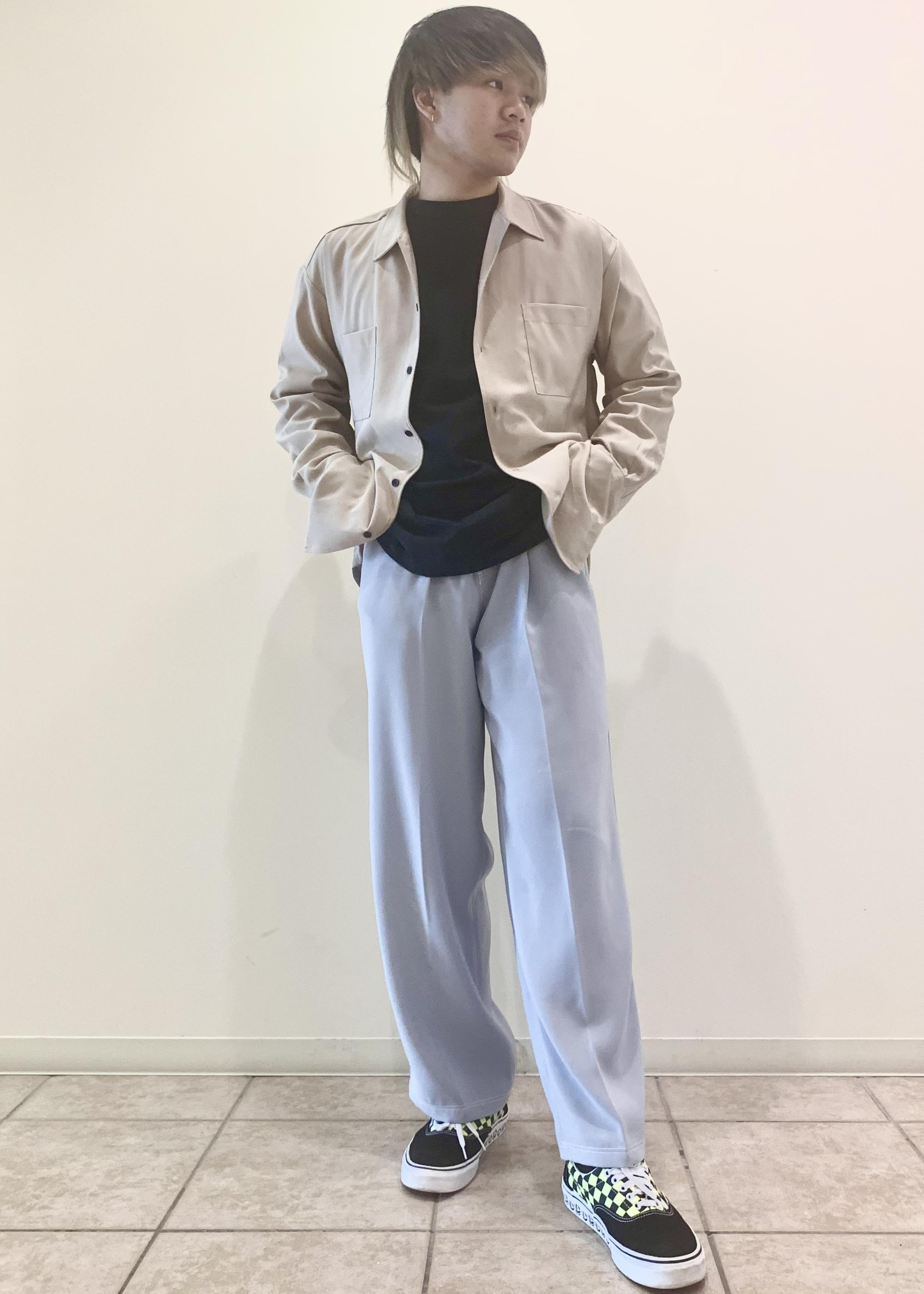 JUNRedの【セットアップ対応】ダブルクロスステッチワイドパンツを使ったコーディネートを紹介します。|Rakuten Fashion(楽天ファッション/旧楽天ブランドアベニュー)1104933