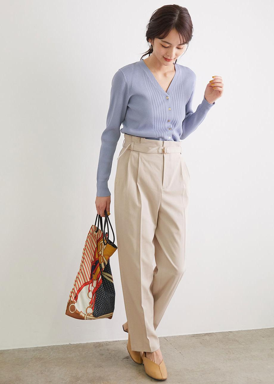 ROPE' PICNICの【WEB限定カラー:ライトグリーン】【セットアップ対応】アセテート混ドライタッチテーパードパンツを使ったコーディネートを紹介します。|Rakuten Fashion(楽天ファッション/旧楽天ブランドアベニュー)1094586