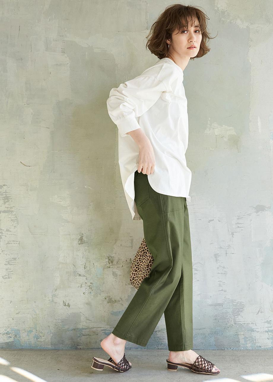 ROPE' PICNICの【WEB限定36サイズ/ブラック】バックサテンベイカーパンツを使ったコーディネートを紹介します。|Rakuten Fashion(楽天ファッション/旧楽天ブランドアベニュー)1094596