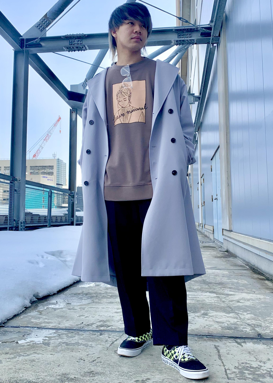 JUNRedのグラフィックスウェットモックネックを使ったコーディネートを紹介します。|Rakuten Fashion(楽天ファッション/旧楽天ブランドアベニュー)1094873