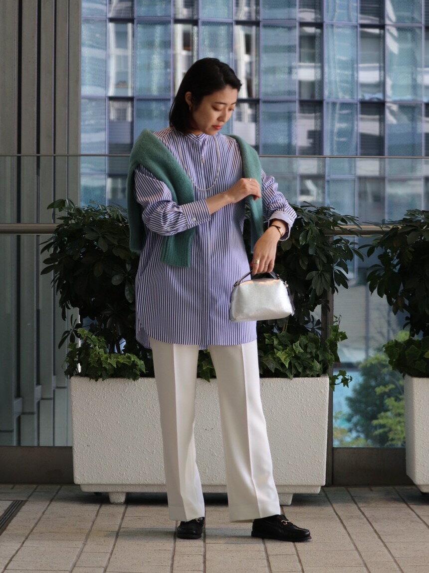 UNITED ARROWSのUWSC バンドカラー ロングシャツ 21SS†を使ったコーディネートを紹介します。|Rakuten Fashion(楽天ファッション/旧楽天ブランドアベニュー)1095795