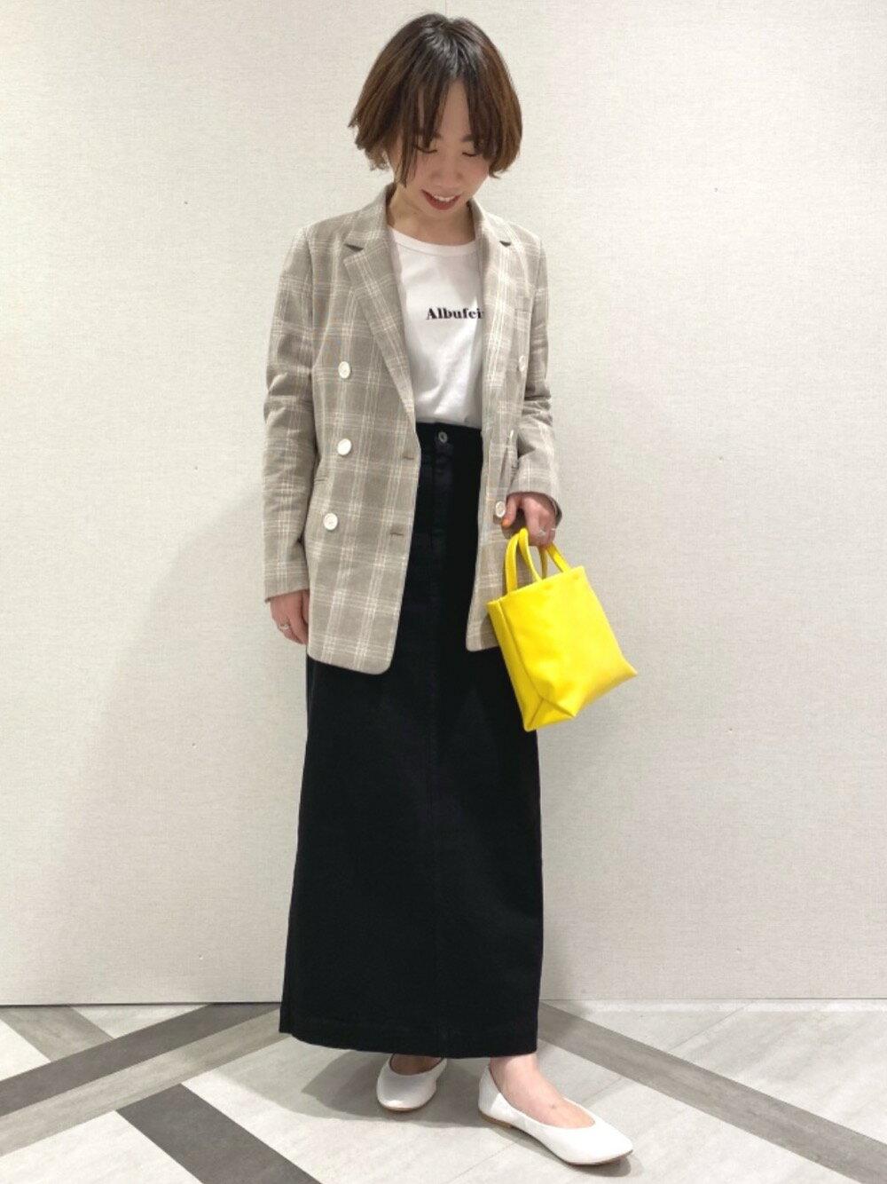 UNITED ARROWS green label relaxingのSC コットン / PU スリット タイト スカートを使ったコーディネートを紹介します。|Rakuten Fashion(楽天ファッション/旧楽天ブランドアベニュー)1095522