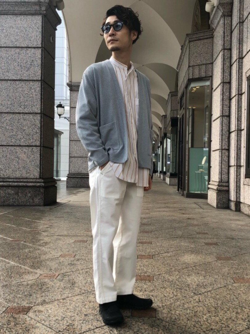 UNITED ARROWS green label relaxingの別注 [ ユニバーサル オーバーオール ] UNIVERSAL OVERALL バンドカラー シャツを使ったコーディネートを紹介します。 Rakuten Fashion(楽天ファッション/旧楽天ブランドアベニュー)1095548