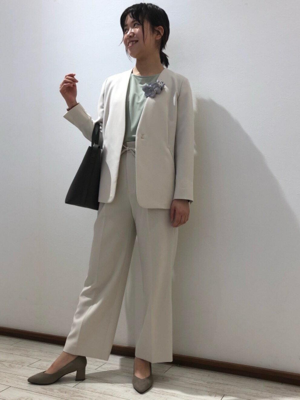 UNITED ARROWS green label relaxingの◆model NO.05◆D ポインテッド チャンキー パンプス(5cmヒール)を使ったコーディネートを紹介します。|Rakuten Fashion(楽天ファッション/旧楽天ブランドアベニュー)1095350