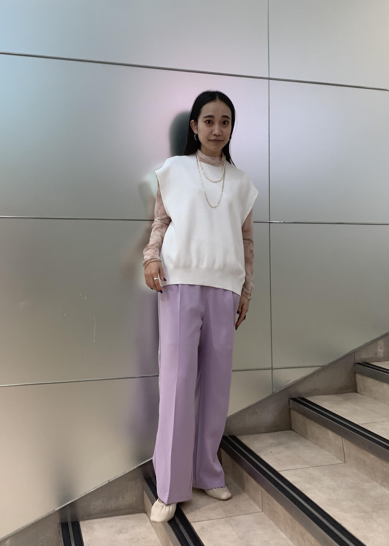ViSの【WEB限定SSサイズ】バッククロスサスペンダーワイドパンツを使ったコーディネートを紹介します。 Rakuten Fashion(楽天ファッション/旧楽天ブランドアベニュー)1096649