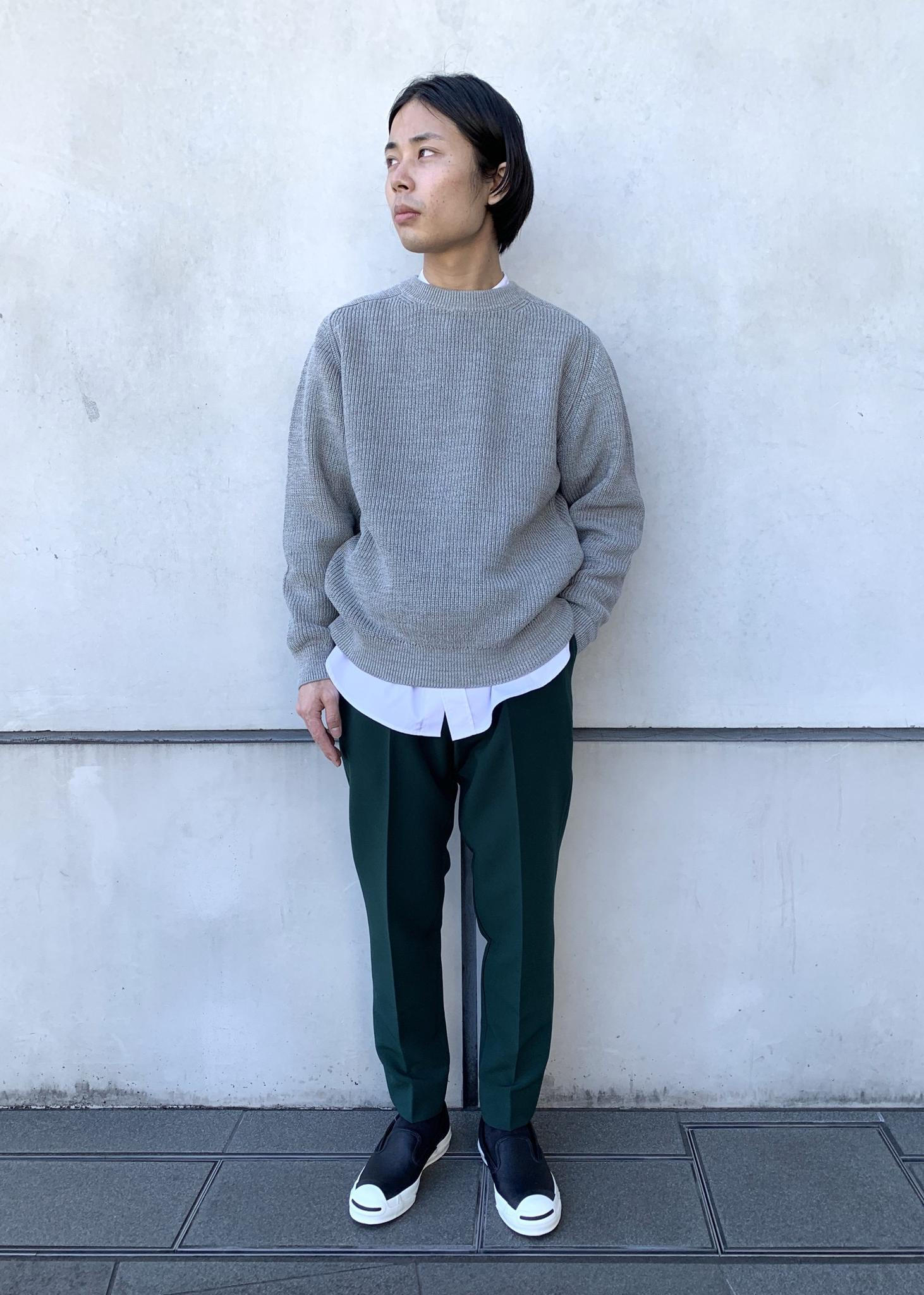 ADAM ET ROPE'のミックス畦 ルーズシルエット コットンニットを使ったコーディネートを紹介します。|Rakuten Fashion(楽天ファッション/旧楽天ブランドアベニュー)1096923