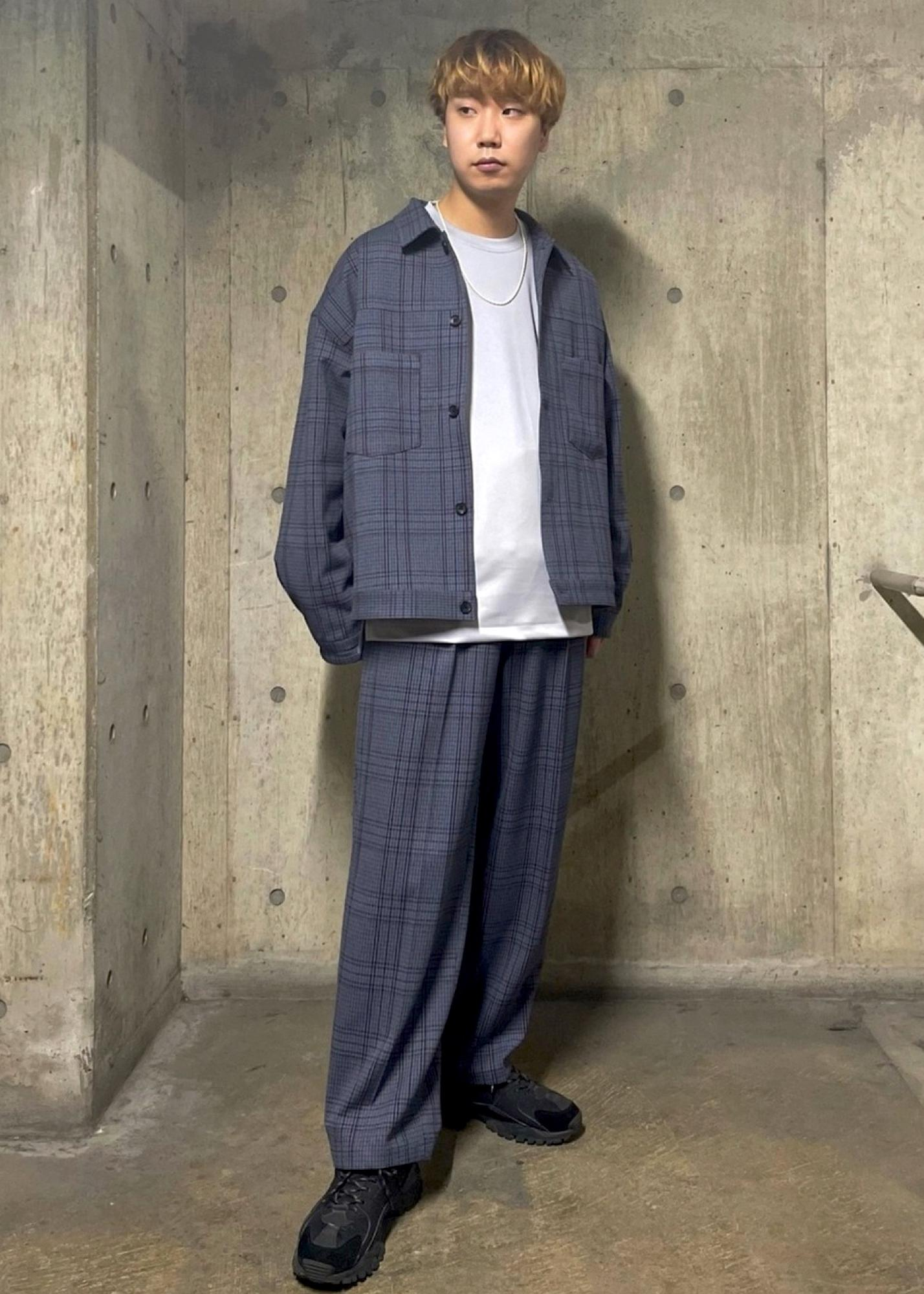JUNRedのチェック2タックワイドパンツを使ったコーディネートを紹介します。|Rakuten Fashion(楽天ファッション/旧楽天ブランドアベニュー)1097905