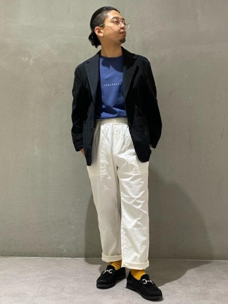 UNITED ARROWS green label relaxingのSC SINCERELY プリント クルーネック 長袖 カットソーを使ったコーディネートを紹介します。|Rakuten Fashion(楽天ファッション/旧楽天ブランドアベニュー)1098356