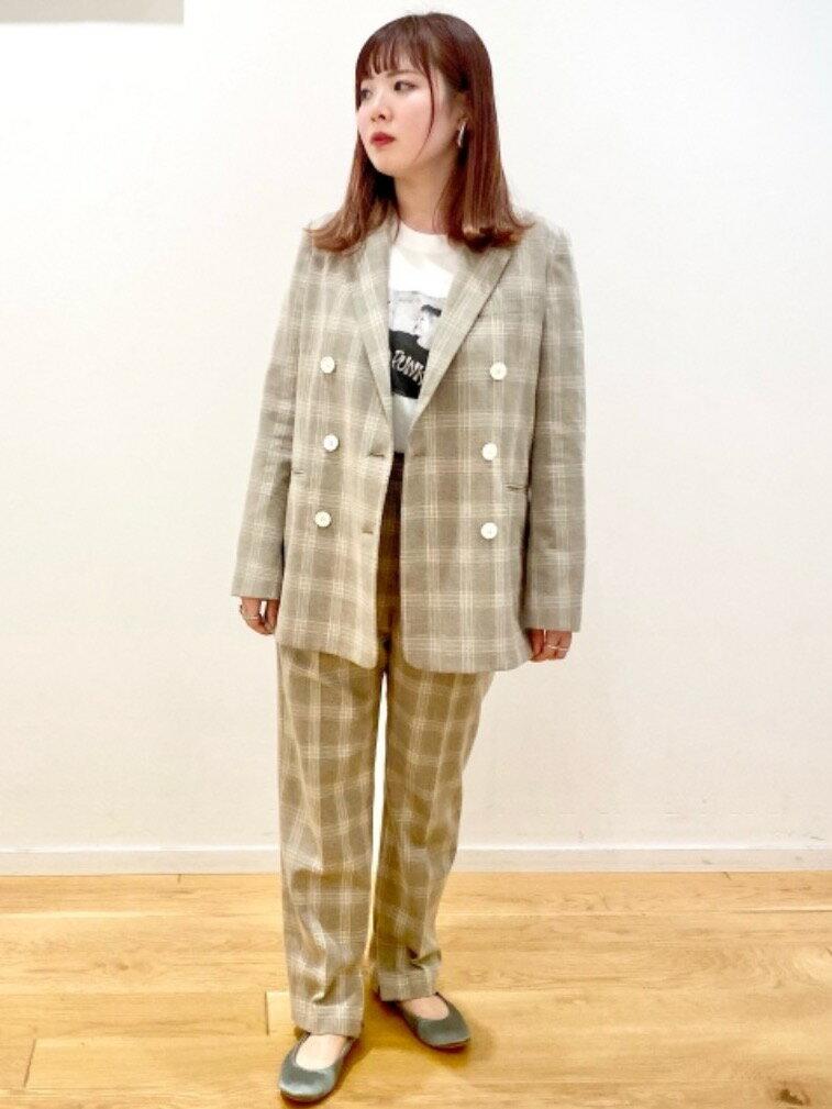 UNITED ARROWS green label relaxingのFM スラブ チェック テーパード パンツを使ったコーディネートを紹介します。|Rakuten Fashion(楽天ファッション/旧楽天ブランドアベニュー)1098346