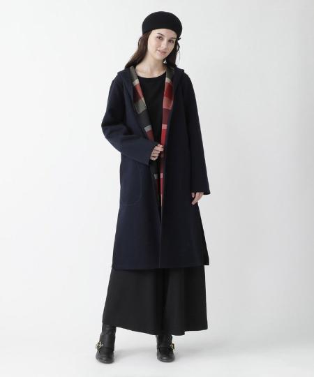 SANYO L SIZEのクレストブリッジチェックリバーシブルコーディガンを使ったコーディネートを紹介します。|Rakuten Fashion(楽天ファッション/旧楽天ブランドアベニュー)1091679