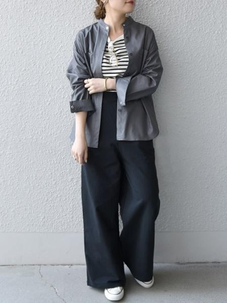 SHIPSのSHIPS any:フェイクレザー バンドカラー シャツを使ったコーディネートを紹介します。|Rakuten Fashion(楽天ファッション/旧楽天ブランドアベニュー)1091766