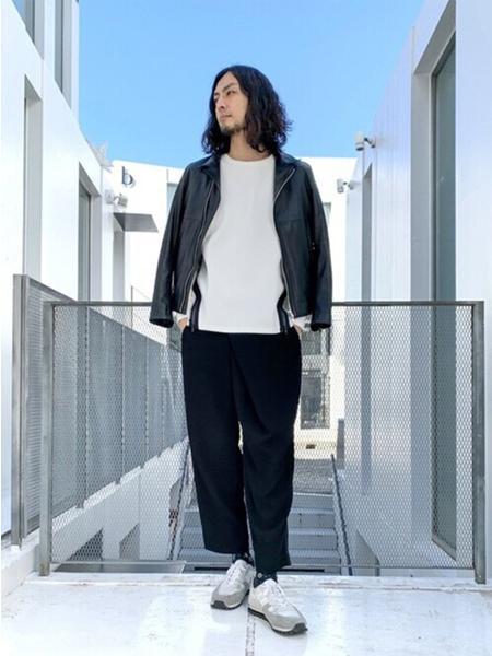 5351POUR LES HOMMESの裾ジップ プルオーバー ロングTシャツを使ったコーディネートを紹介します。|Rakuten Fashion(楽天ファッション/旧楽天ブランドアベニュー)1092202