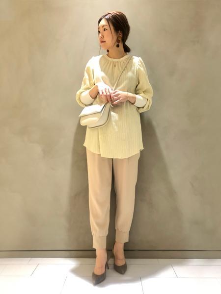 qualiteのジョーゼットドロストジョグパンツを使ったコーディネートを紹介します。|Rakuten Fashion(楽天ファッション/旧楽天ブランドアベニュー)1093382