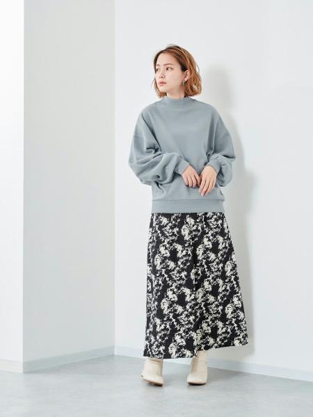 cepoのERG/(W)モックネックソデボリュームPOを使ったコーディネートを紹介します。|Rakuten Fashion(楽天ファッション/旧楽天ブランドアベニュー)1093934