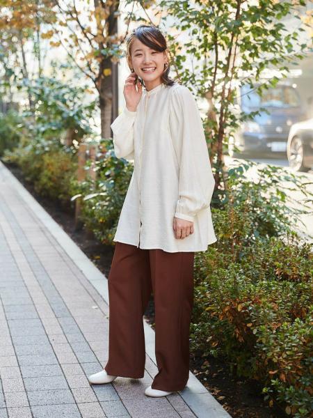cepoのCEPO/(W)パフギャザー2WAYブラウスを使ったコーディネートを紹介します。|Rakuten Fashion(楽天ファッション/旧楽天ブランドアベニュー)1094491