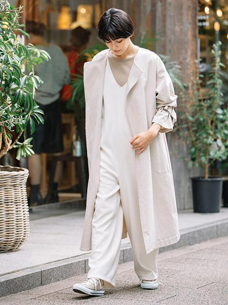 Munichのダブルフェイスブークレ コンビネゾンを使ったコーディネートを紹介します。 Rakuten Fashion(楽天ファッション/旧楽天ブランドアベニュー)1094507