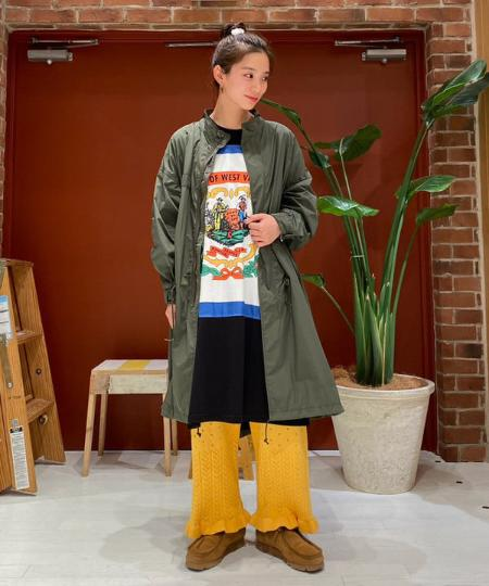 BEAMS WOMENのCHED / State Flag ワンピースを使ったコーディネートを紹介します。|Rakuten Fashion(楽天ファッション/旧楽天ブランドアベニュー)1095146