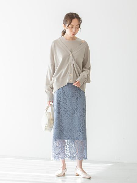 NOBLEのハイツイストニットアメスリアンサンブル◆を使ったコーディネートを紹介します。|Rakuten Fashion(楽天ファッション/旧楽天ブランドアベニュー)1096076