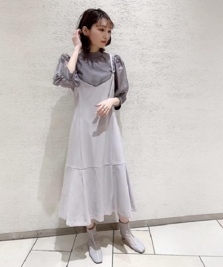 PROPORTION BODY DRESSINGのマーメイドラインジャンパースカートを使ったコーディネートを紹介します。|Rakuten Fashion(楽天ファッション/旧楽天ブランドアベニュー)1096722