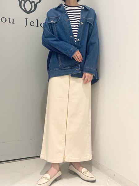 Bou Jeloudのフロントジップデニムパンツを使ったコーディネートを紹介します。 Rakuten Fashion(楽天ファッション/旧楽天ブランドアベニュー)1098648