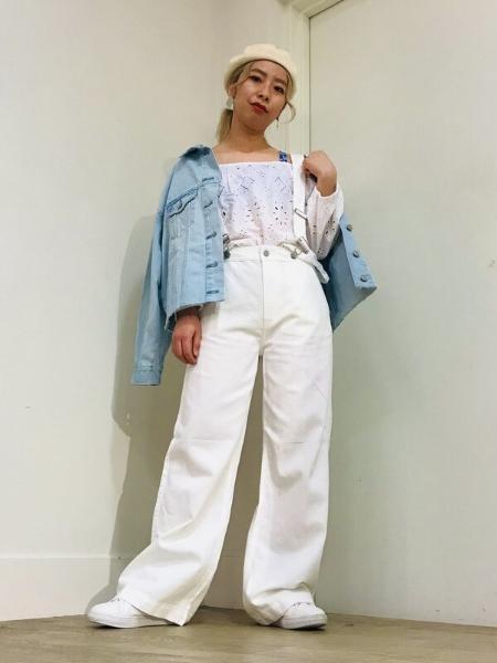 GAPの(W)Oversized Icon Denim Jacketを使ったコーディネートを紹介します。|Rakuten Fashion(楽天ファッション/旧楽天ブランドアベニュー)1098815