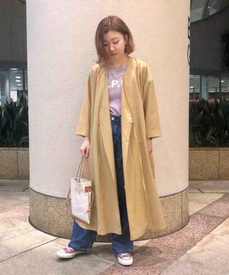 BEAMS LIGHTSのBEAMS LIGHTS / 羽織り 2way カシュクール ワンピースを使ったコーディネートを紹介します。|Rakuten Fashion(楽天ファッション/旧楽天ブランドアベニュー)1099720