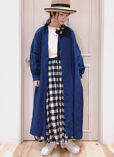 Samansa Mos2の35th【Slowlinen】スカーフ刺繍ワンピースを使ったコーディネートを紹介します。|Rakuten Fashion(楽天ファッション/旧楽天ブランドアベニュー)1100584