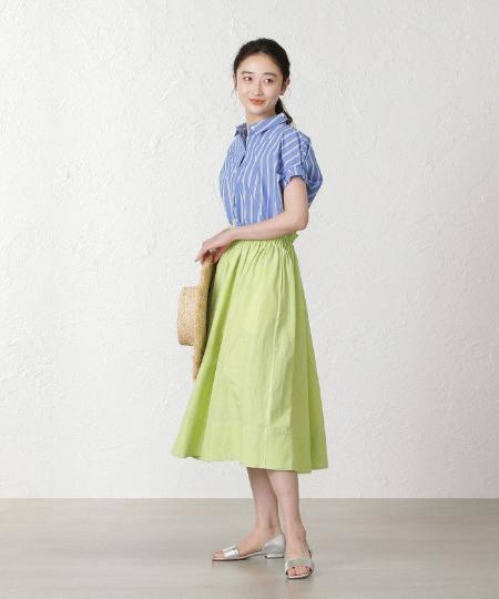 EPOCA THE SHOPの【MIHOKO SAITO】カラーギャザースカートを使ったコーディネートを紹介します。 Rakuten Fashion(楽天ファッション/旧楽天ブランドアベニュー)1100702