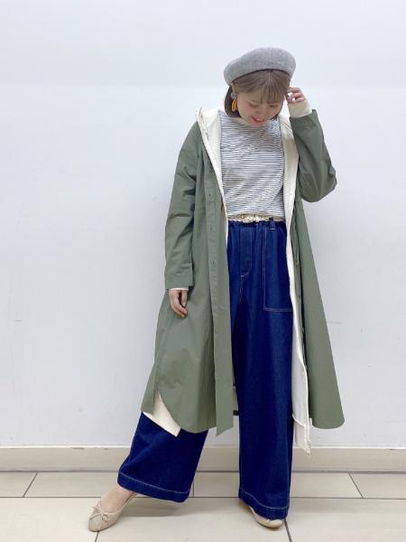 studio CLIPのフードマキシCTOPを使ったコーディネートを紹介します。|Rakuten Fashion(楽天ファッション/旧楽天ブランドアベニュー)1101852