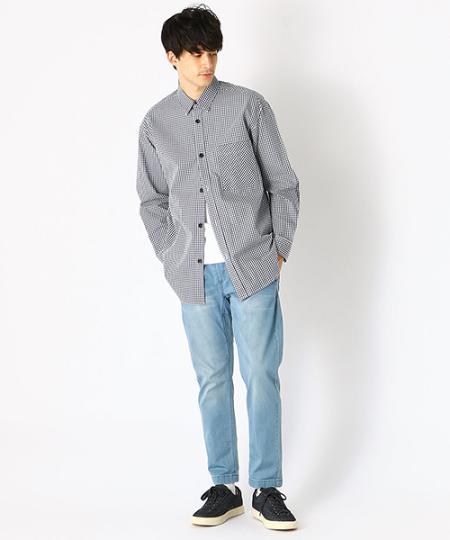 COMME CA ISMの<<オーガニック コットン>> オーバーサイズ ギンガムチェック シャツを使ったコーディネートを紹介します。|Rakuten Fashion(楽天ファッション/旧楽天ブランドアベニュー)1102036