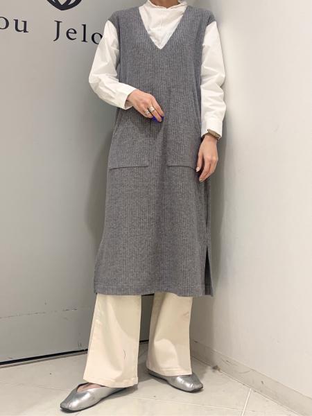 Bou JeloudのVネック袖レイヤードワンピースを使ったコーディネートを紹介します。|Rakuten Fashion(楽天ファッション/旧楽天ブランドアベニュー)1102224