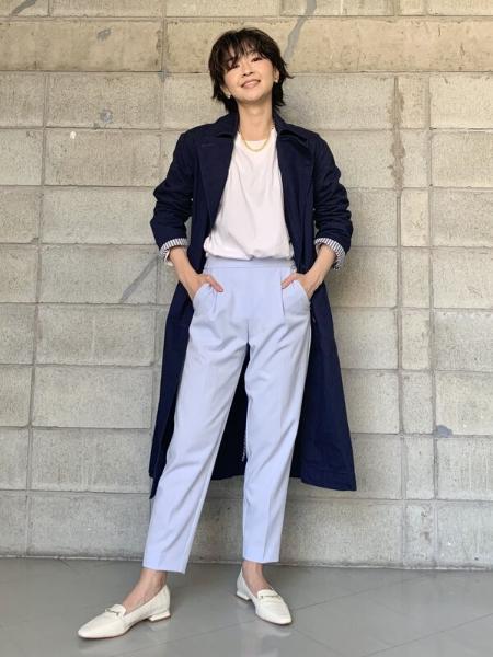 GAPの(W)プルオンスリムパンツを使ったコーディネートを紹介します。 Rakuten Fashion(楽天ファッション/旧楽天ブランドアベニュー)1102248
