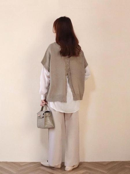 ARIESのChiaro/オーバーサイズマルチウェイニットを使ったコーディネートを紹介します。|Rakuten Fashion(楽天ファッション/旧楽天ブランドアベニュー)1102896